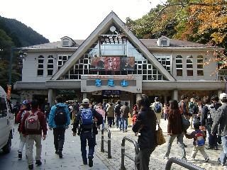 高尾山のケーブルカー山麓駅