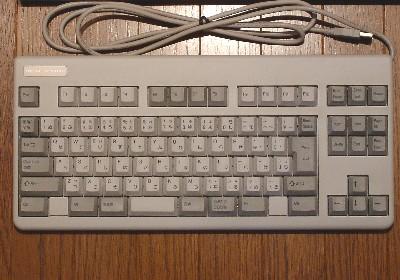 テンキーが無いだけのごくフツーのキーボード