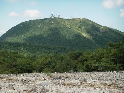 長七郎山から地蔵岳を見る