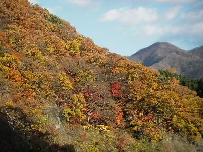 園原湖の紅葉