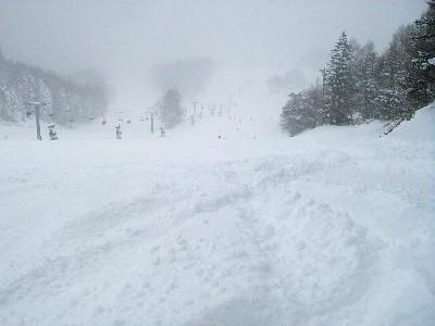 膝上の新雪