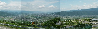 千曲川の眺め