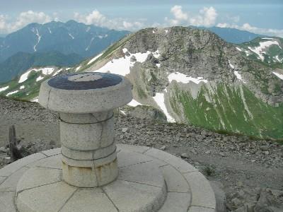白馬岳山頂から旭岳方面