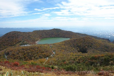 長七郎山と小沼