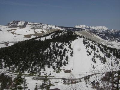 本白根から横手山と岩菅山