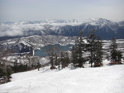スキー場最上部