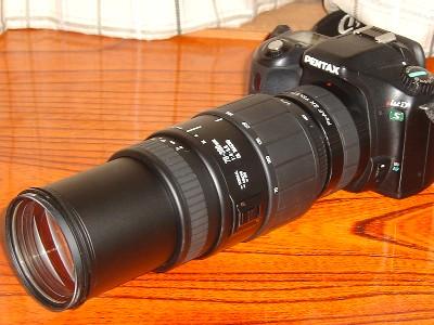 SIGMA 70-300mm + x2テレコンバータ