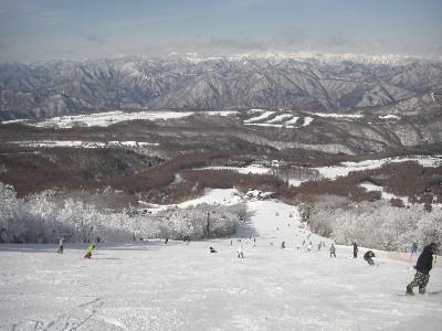 スキー場トップから