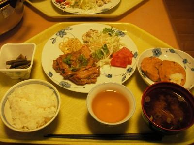 横尾山荘の夕食