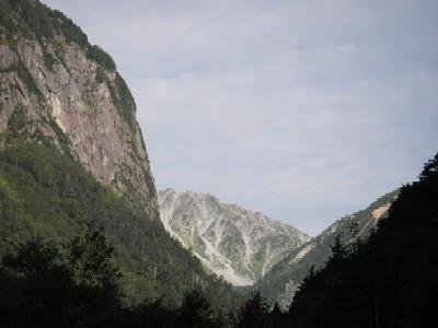 屏風岩と南岳