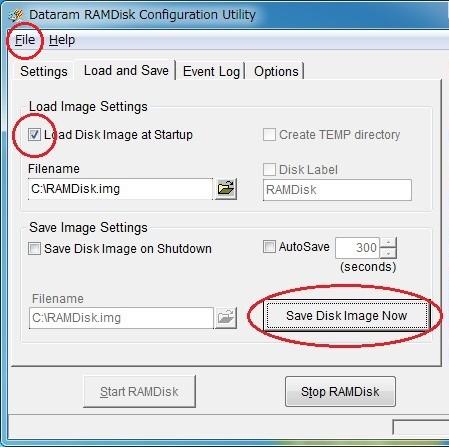 RAMDisk Configuration Utility 2