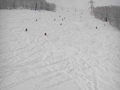 急斜面・新雪