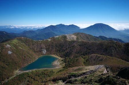 五色沼と日光連山