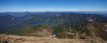 山頂から北側のパノラマ