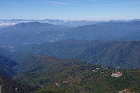 山頂から西側の眺め