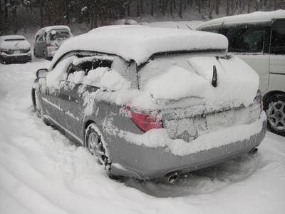 3時間でこの積雪