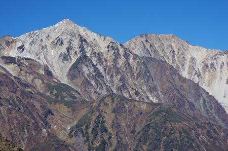 白馬鑓と杓子岳