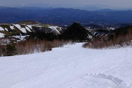 清水沢コース上部