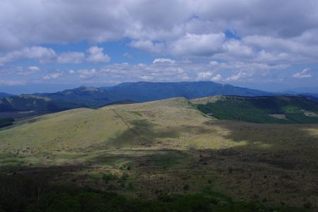 車山山頂から北側の景色