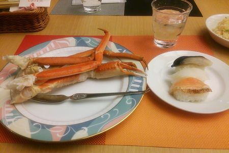 カニと寿司