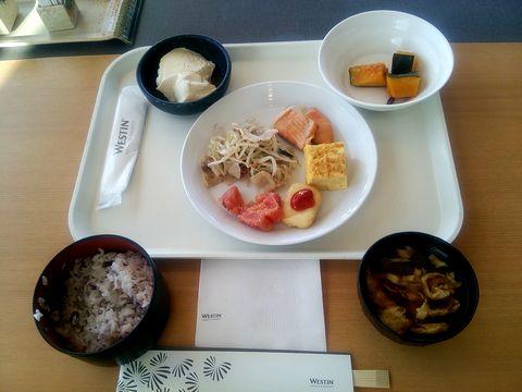風花で朝食