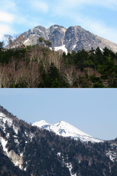 日光白根山と燧ケ岳