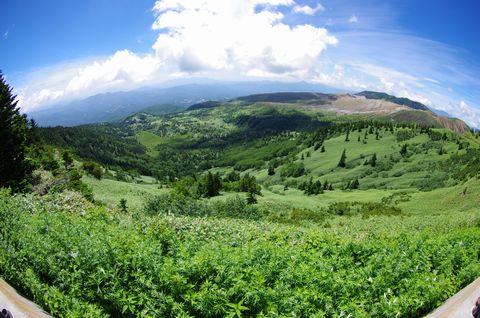国道最高地点のパノラマ