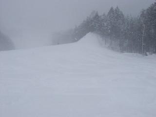 新雪が楽しい