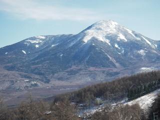 やまびこの窓から見た蓼科山