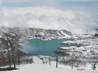 田代湖が見えた